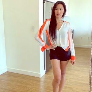 BCBG Maxazria white blouse